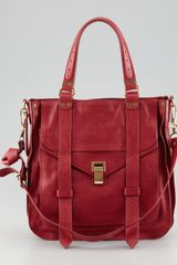 Proenza Schouler Ps1 Small Leather Tote Bag Red - Lyst