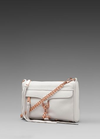 Rebecca Minkoff Mini Mac Clutch in White - Lyst