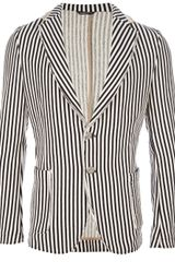 Daniele Alessandrini Striped Two Button Blazer - Lyst