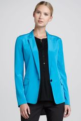 DKNY Onebutton Stretchsilk Jacket - Lyst