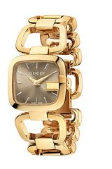 Gucci G 24mm Gold Pvd Stainless Steel Bracelet Watch - Lyst