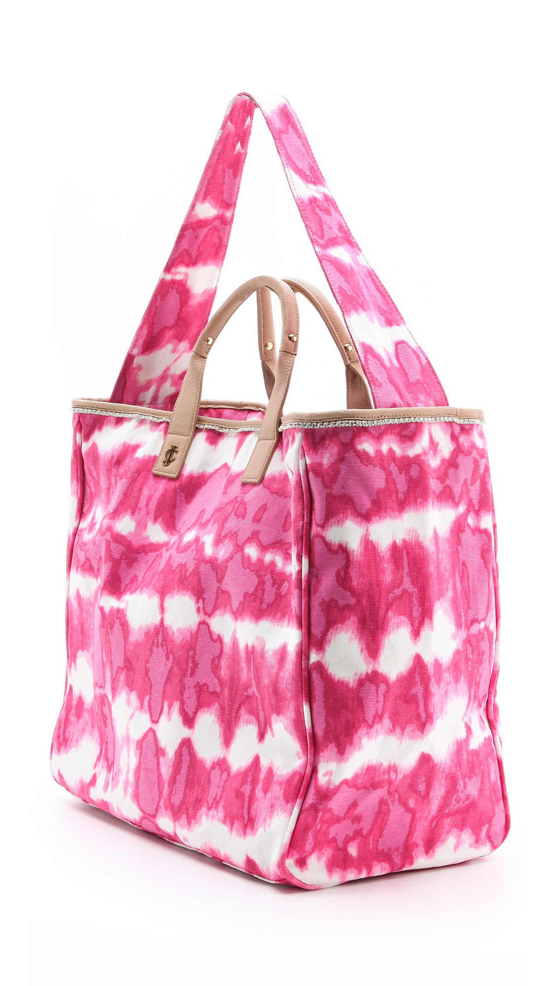 lyst juicy couture tye dye canvas beach tote in pink. Black Bedroom Furniture Sets. Home Design Ideas