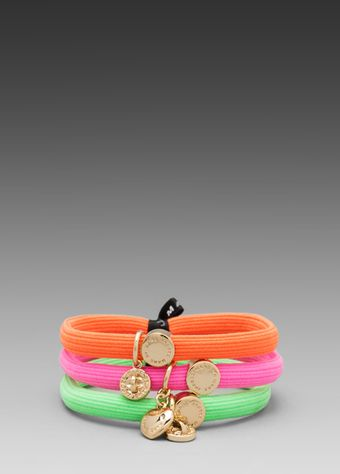 Marc By Marc Jacobs Cluster Ponys Turnlock Hairbands in Pink - Lyst