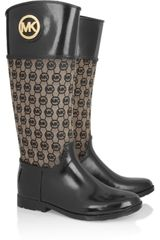 Michael by Michael Kors Fulton Jacquard and Rubber Rainboots