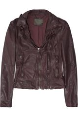 Muubaa Vienna Leather Biker Jacket - Lyst