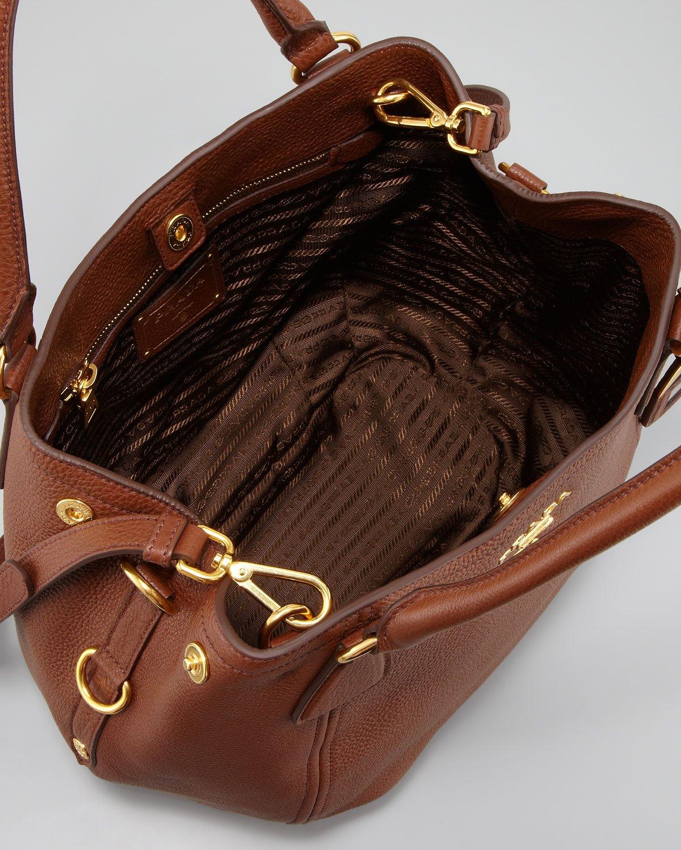 Prada Daino Medium Shoulder Tote Bag in Brown | Lyst