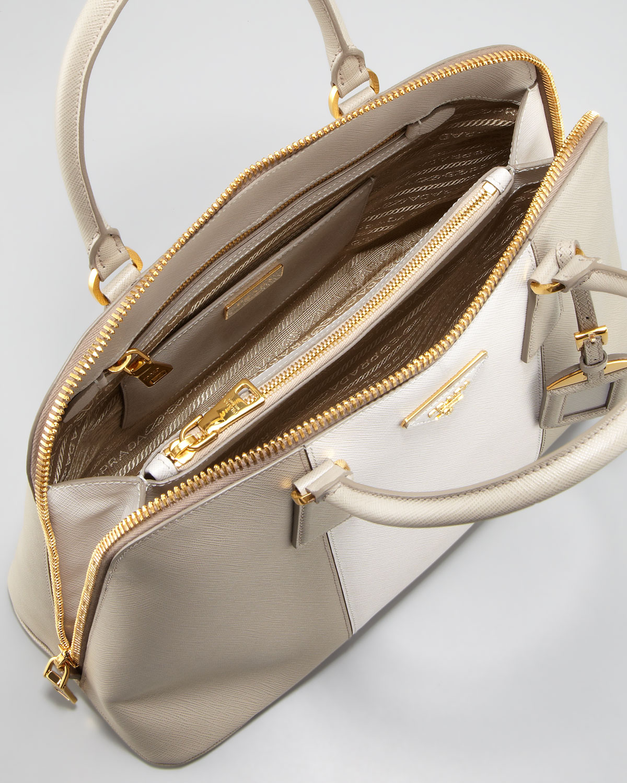 fef203d8eff1 Prada Saffiano Handbag White | Stanford Center for Opportunity ...
