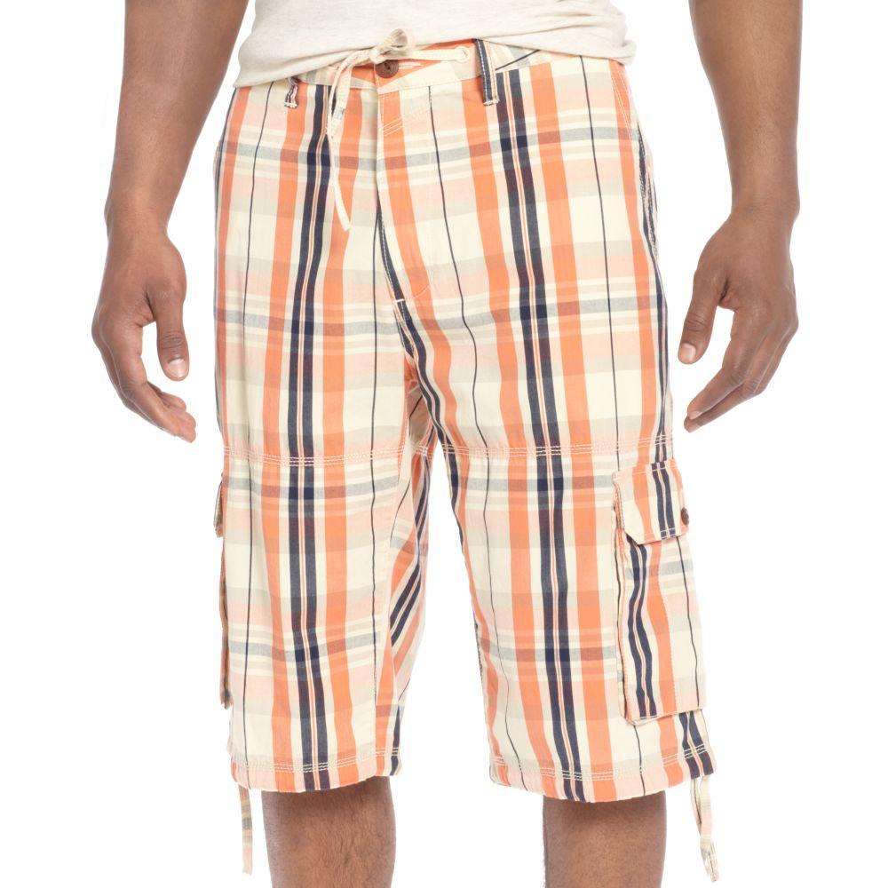 Sean john Plaid Cargo Shorts in Multicolor for Men (Camellia ...