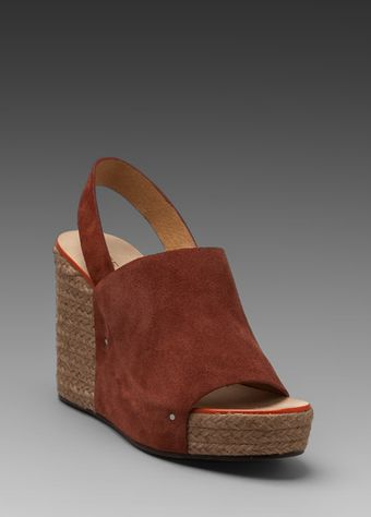 See By Chloé Ankle Strap Espadrille Wedge in Rust - Lyst