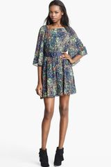 Alice + Olivia Bauer Flower Print Dress - Lyst