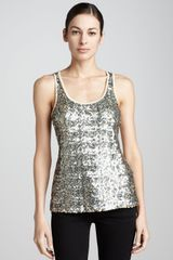 Berek Sequined Sleeveless Shell - Lyst