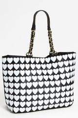 Betsey Johnson Hearts Tote - Lyst
