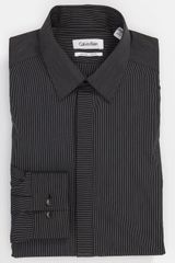 Calvin Klein Como Stripe Slim Fit Dress Shirt - Lyst