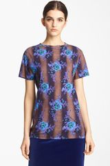 Christopher Kane Print Cotton Tee - Lyst
