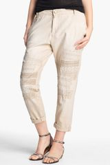 Current/Elliott The Buddy Lace Trim Trousers - Lyst