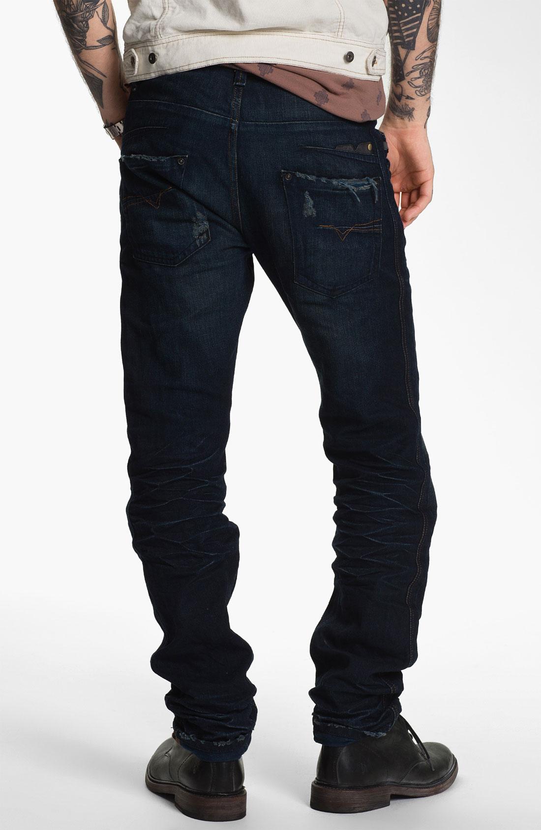Diesel Darron Slim Tapered Leg Jeans in Blue for Men (0809v) | Lyst