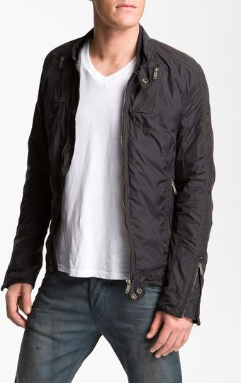 Diesel Jurlo Trim Fit Nylon Moto Jacket - Lyst