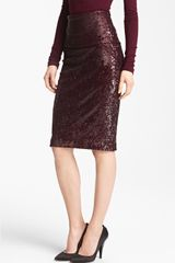 Donna Karan New York Collection Mélange Stretch Sequin Skirt - Lyst