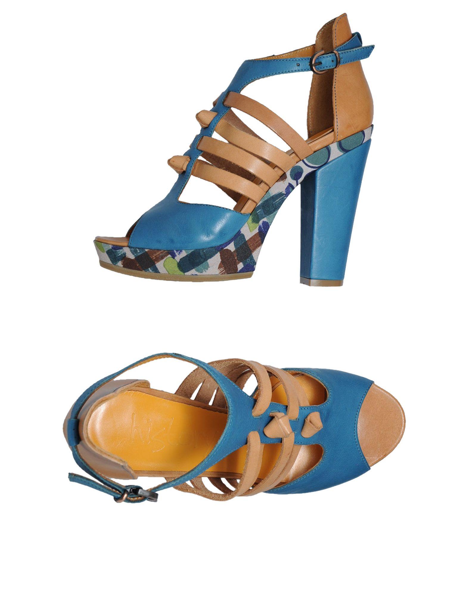 history platform sandals in blue jade lyst