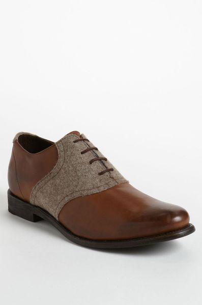 jd fisk nikko2 saddle shoe in brown for tobacco