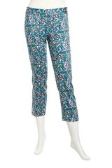 Laundry By Shelli Segal Printed Sidezip Capri Pants - Lyst