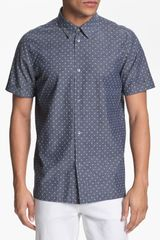 Marc By Marc Jacobs Dot Print Chambray Shirt - Lyst