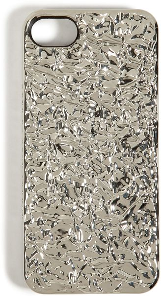 Marc By Marc Jacobs Foil Covered Iphone 5 Case in Silver - Lyst