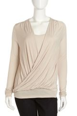 Michael by Michael Kors Draped Layered Top - Lyst
