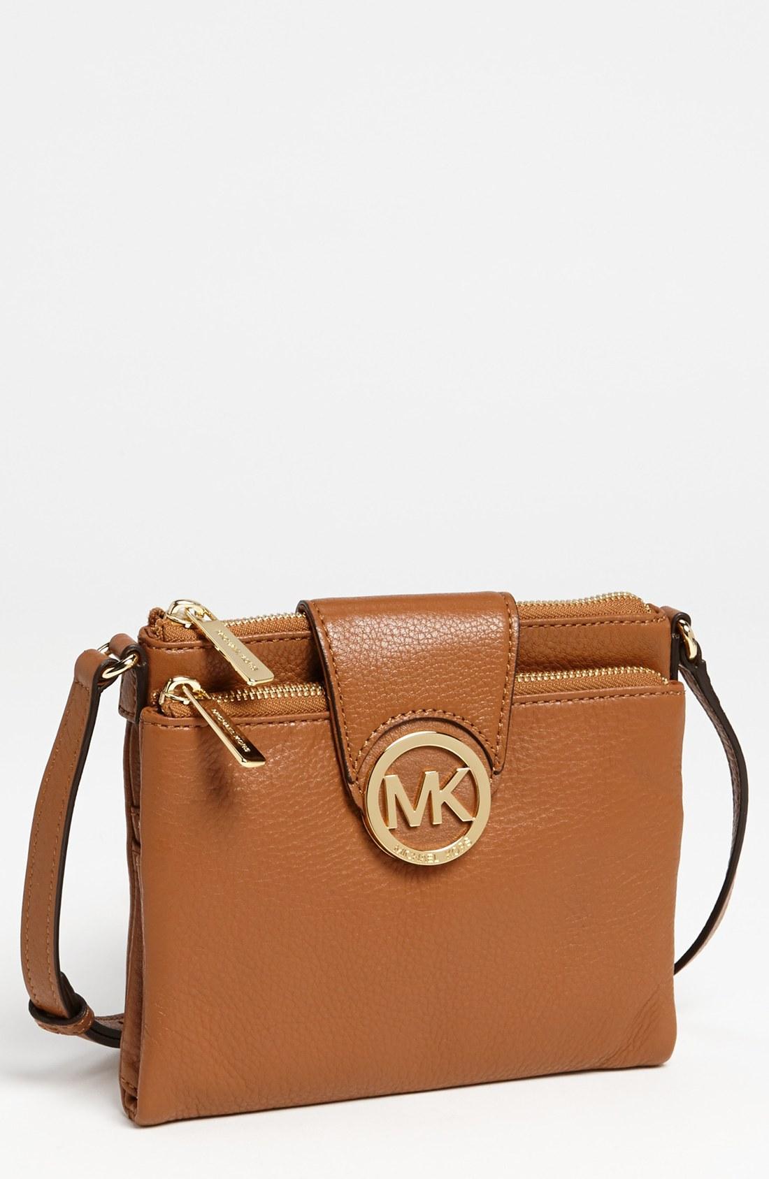michael michael kors fulton large crossbody bag in brown