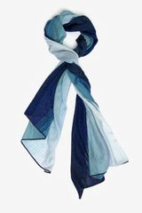 Missoni Metallic Ombre Scarf Blue