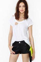 Nasty Gal Quilted Moto Shorts - Lyst