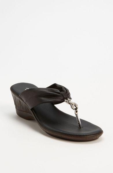 Onex Jessie Sandal in Black (black/ silver) - Lyst