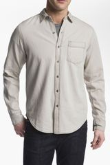 RVCA Bleach Slim Fit Sport Shirt - Lyst