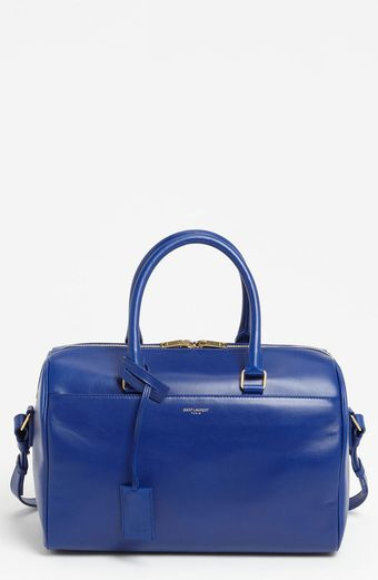 Saint Laurent Duffle 6 Leather Satchel - Lyst