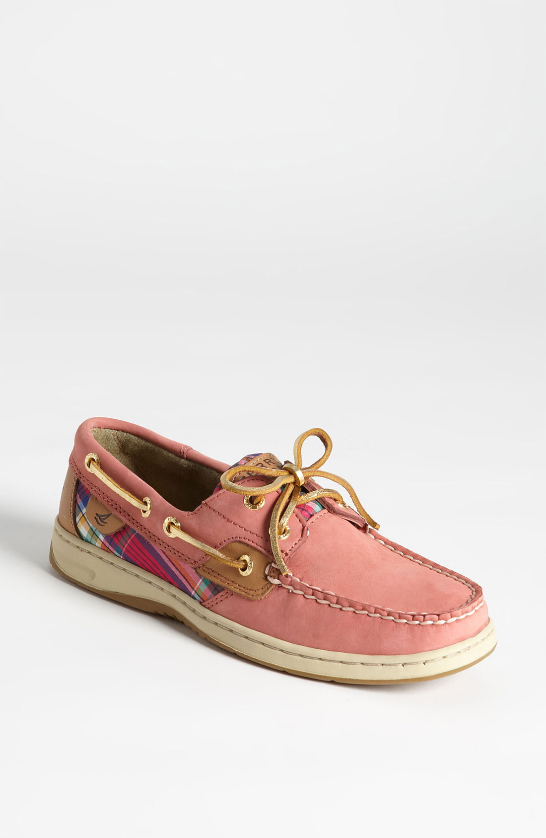 Sperry Top-sider Bluefish 2eye Boat Shoe Women in Pink (wash red plaid