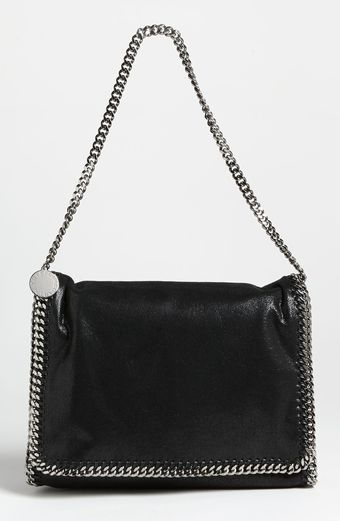 Stella McCartney Falabella Big Faux Suede Shoulder Bag - Lyst