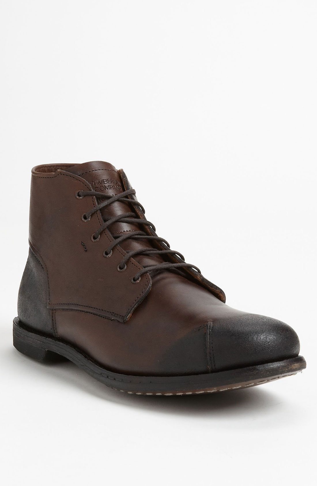 timberland boot company 13 carries plain toe boot in brown