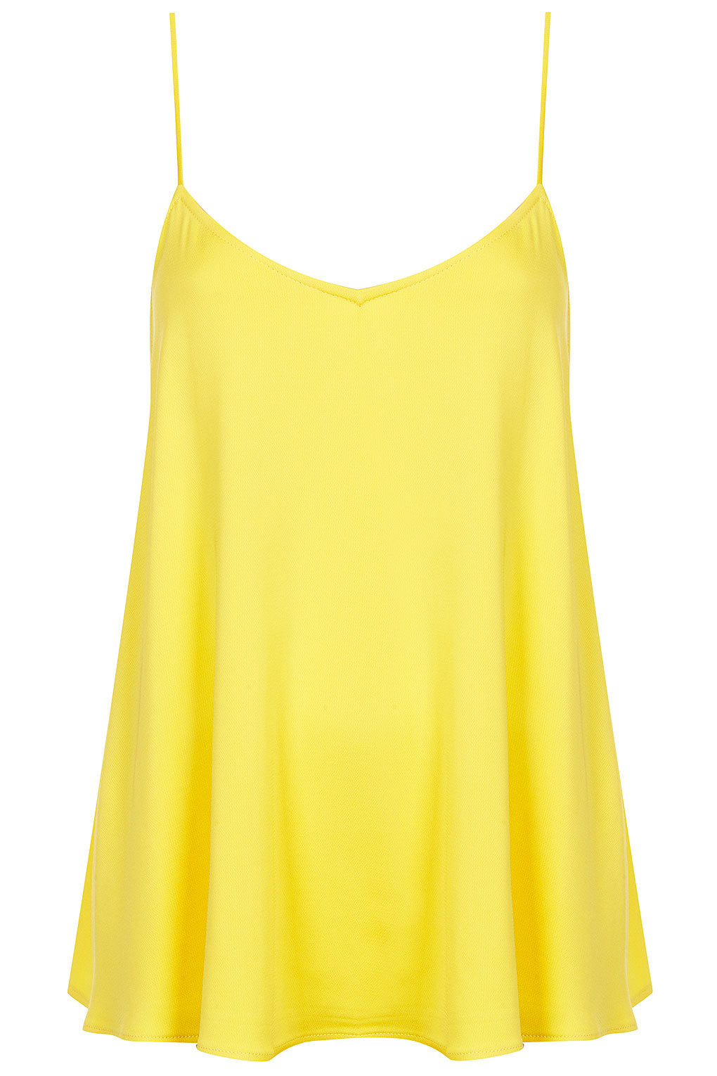 yellow satin cami lyst topshop silk cami in yellow 8105