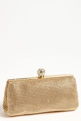 Whiting & Davis Crystal Mesh Clutch - Lyst