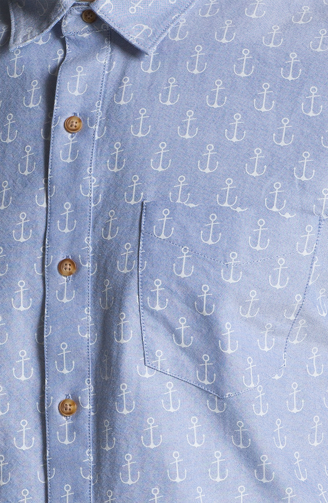 1901 pattern print oxford shirt in blue for men lyst for T shirt printing oxford