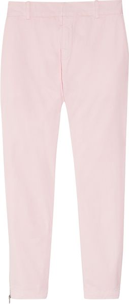Band Of Outsiders Stretch Cotton Straight Leg Pants - Lyst