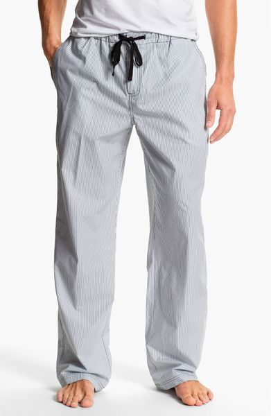 Daniel Buchler Woven Cotton Lounge Pants In Gray For Men