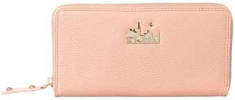 DKNY Pink Large Zip Around Purse - Lyst