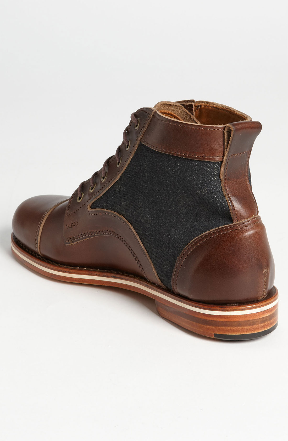 helm cap toe boot in brown for lyst