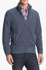 Hickey Freeman Zip Cardigan - Lyst