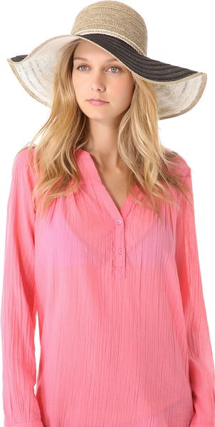 Juicy Couture Oversized Straw Sunhat - Lyst