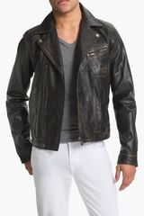 Just Cavalli Leather Moto Jacket - Lyst