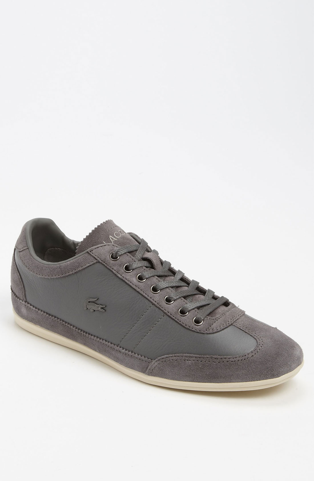 lacoste misano 11 sneaker in gray for men grey lyst