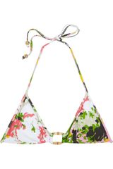 Milly Antibes Printed Triangle Bikini Top - Lyst