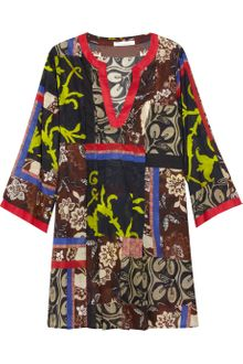 Oscar de la Renta Printed Cotton Kaftan Dress - Lyst